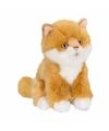 Rode langharige poezen/katten knuffel 15 cm