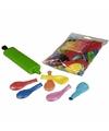 Gekleurde carnavals ballonnen +pomp