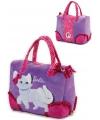Handtas met witte kat afbeelding