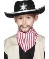 Kinder zwarte sherrif hoed