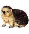 Beeldjes bruin egel diertjes 16 cm