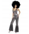 Zilveren glitter outfit voor dames