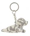 Gevlekt zeehondje sleutelhangertje 8,5 cm