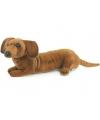 Pluche teckel hond kortharig 40 cm