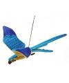 Levensechte knuffel papegaai vliegend 76 cm