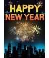 Happy new year mega deurposter