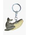 Houten walvis dieren sleutelhanger