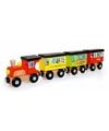 Houten speelgoed trein rond de wereld 31 cm