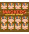 Indianen kleurmaskers 10 stuks
