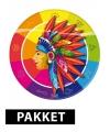 Indianen thema decoratie pakket
