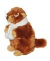 Marmot met sjaal kinder knuffel 20 cm