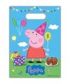 Peppa Big kinderfeest uitdeelzakjes 8 stuks