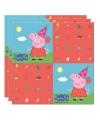 Peppa Pig thema kinderfeest servetten 20 stuks