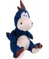 Pluche dino knuffel blauw 32 cm