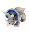 Knuffel dino grijze triceratops 48 cm