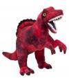 Rode dinosaurus knuffel