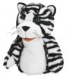 Pluche handpop tijger zwart wit