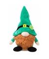 Pluche Ierse kabouter knuffel groene muts 19 cm