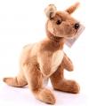 Zachte knuffel kangoeroe 19 cm