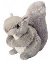 Knuffeldiertje eekhoorn pluche grijs 20 cm