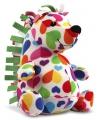 Pluche knuffel gekleurde egel 27 cm
