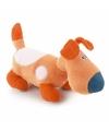 Pluche knuffel hond teckel 20 cm