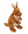 Speelgoed knuffel kangoeroe 28 cm