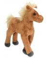Knuffeldier bruin paard 20 cm