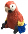 Speelgoed knuffel rode papegaai 76 cm