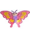 Speelgoed knuffel vlinder 38 cm