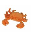 Oranje krab knuffel 27cm