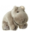 Nijlpaard knuffeltjes met kraalogen 12 cm