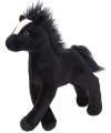 Knuffeldier zwart paard 20 cm
