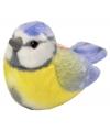 Pluche vogel knuffel pimpelmees