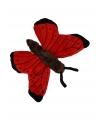 Rode vlinder knuffels 21 cm