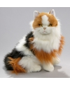 Knuffel poes rood bont 35 cm