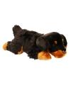 Knuffel hond rottweilers 33 cm