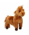 Shetlander pony knuffel bruin 36 cm