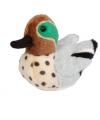 Pluche wintertaling eend met geluid 14 cm