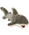 Pluche knuffeldier witte haai 45 cm