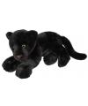 Liggende zwarte panter knuffel 50cm