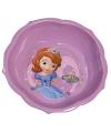 Schaaltje paars met plaatjes van Prinses Sofia 16 cm