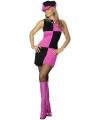 Sixties dames kleding in roze