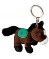 Sleutelhanger paardje donkerbruin 12 cm