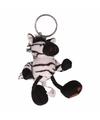 Pluche knuffeltje zebra sleutelhanger 10 cm