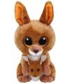 Ty Beanie Boo's Klipper pluche bruine kangoeroe knuffel  15 cm