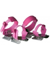 Roze kinderschaatsen om in te stappen