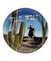 Cowboy thema bordjes 6 stuks