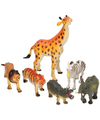 Speelgoed safari dieren 6 stuks