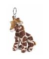 Pluche knuffel giraffetje sleutelhanger